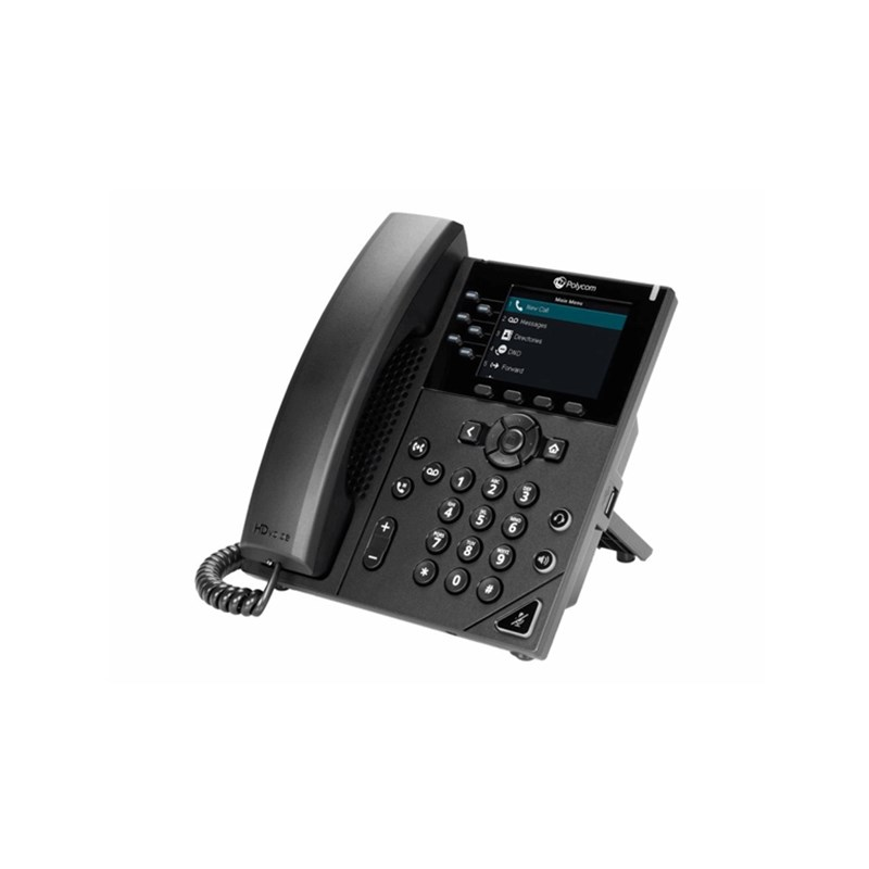 Polycom VVX 350 Business IP Phone Six-line, mid-range IP desk phone with color display